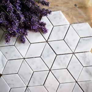 Rhombus Bianco Carrara