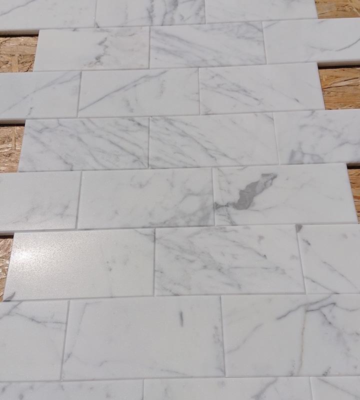 Mozaika Subway Calacatta, matowa