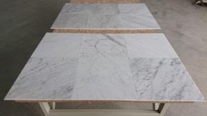 Bianco Carrara Venato, matowe płytki