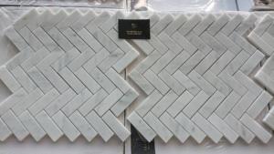 Jodełka Bianco Carrara mat
