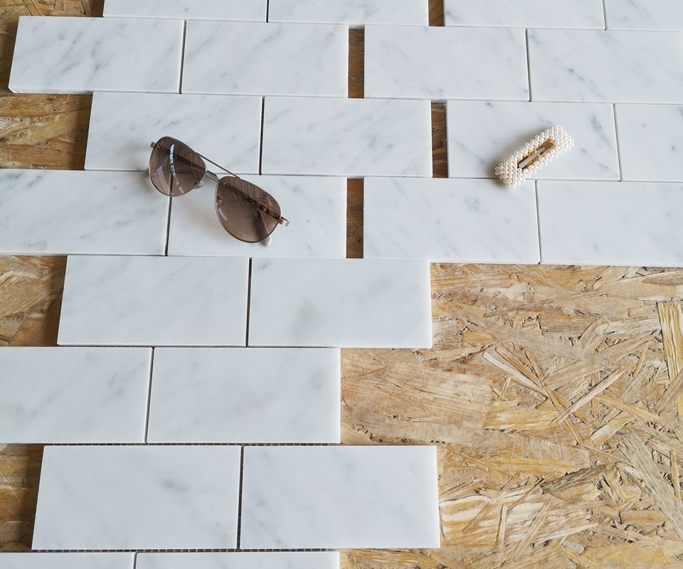 Subway Bianco Carrara mat
