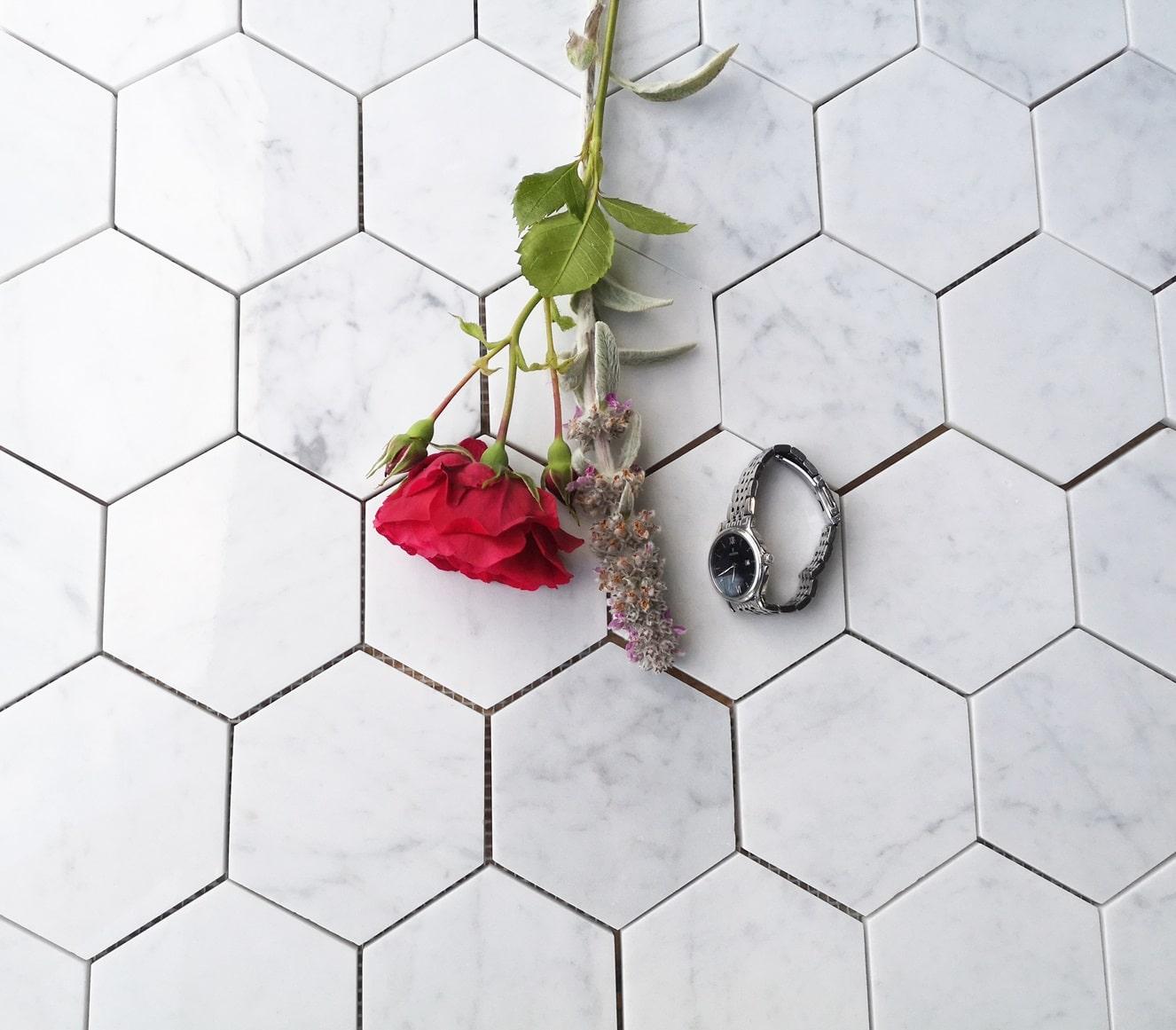 Hexagony Premium Bianco Carrara