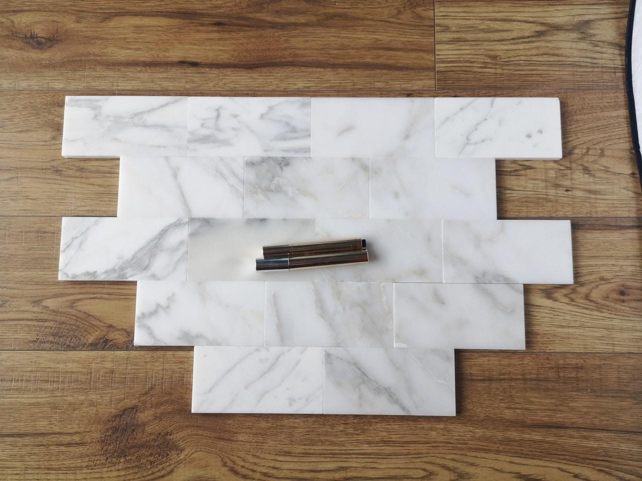subway calacatta gold mat